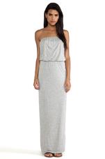 Tammie New Fine Slinky Dress in Heather Grey