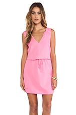 Dot Cotton Slub Dress in Pink Lemonade
