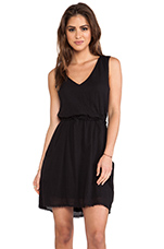 Teagan Sheer Jersey Dress in Black