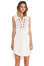 Ruth Cotton Gauze w/ Embroidery Dress in White