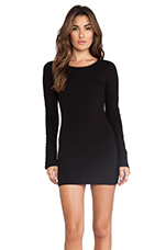 Amzin Baby Jersey Long Sleeve Dress in Black