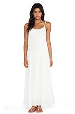 Delize Sheer Jersey Dress in Coconut