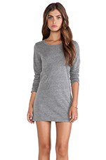 Thea Heather Grey Knit Dress Long Sleeve Dress in Grey in Heather Grey
