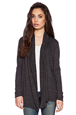 Soft Textured Knit Horacia Cardigan in Black