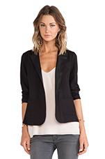 Frula Ponti w/ Faux Leather Jacket in Black
