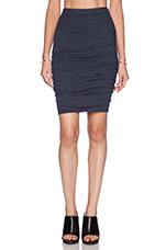 Soft Textured Knit Larsa Skirt in Splash
