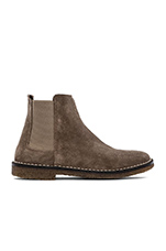 Cody Bootie with Sheep Shearling Lining in Flint