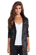 Jaylen Double Breasted Coat in Black