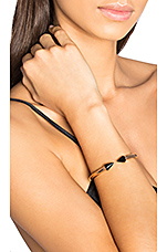Mini Titan Stone Bracelet in Rosegold/Onyx
