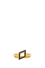 Ultra Mini Rombo Ring in Gold/Black