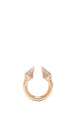 Titan Color Crystal Ring in Rosegold/Peach