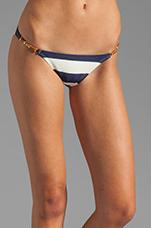 Malawi Detail Bikini Bottom in Navy/White