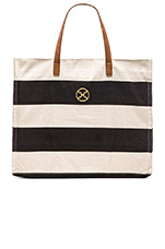 Stripe Beach Bag in Canvas