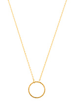 Frame Circle Necklace in Gold