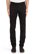 Mid-town Chino Pant in Black