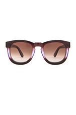 Classic Fox Sunglasses in Purple Ombre