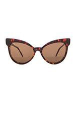 Grand Dame Sunglasses in Tokyo Tortoise & Brown Solid