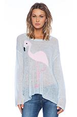 White Label Pink Pet Sweater in Honolulu Blue