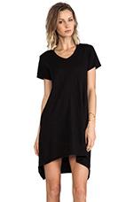 Shrunken Boyfriend Dress in Black