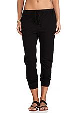 Crop Sweatpant in Black