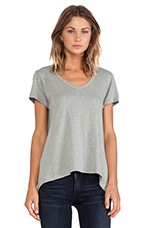 Slub Jersey Short Sleeve Shrunken Boyfriend Tee in Patina