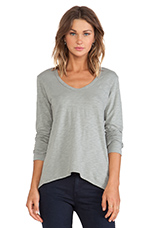 Slub Jersey Long Sleeve Shrunken Boyfriend in Patina