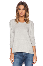 French Terry Pocket Sweatshirt in Gray Heather