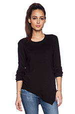 Twisted Mix Tunic Long Sleeve in Black
