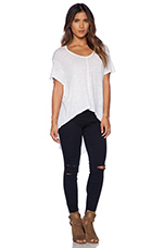 Short Sleeve Slouchy Hi-Lo in White