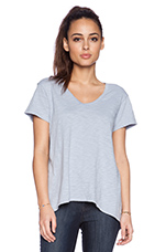 Short Sleeve Slouchy BF in Baby Sky