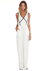Reverse Jumpsuit in White