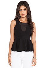 Magnatize Peplum Top in Black