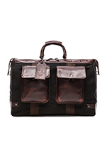 Traveler Duffle in Black & Brown