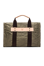 Wax Coated Canvas Duffle in Olive