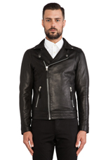 Ray Leather Jacket in Black