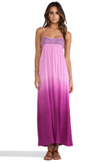 Gwen Ombre Maxi Dress in Fuchsia