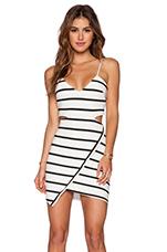 Dazed Dress in B&W Stripe