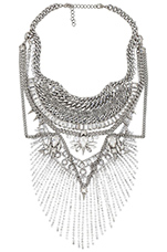 x REVOLVE 2 Necklace in Crystal & Silver