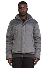 2 in 1 Blouson Jacket in Charcoal Melange