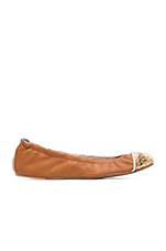 Marni Flexible Contrast Flat in Whiskey & Gold
