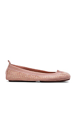 Kid Suede Micro Studded Flat in Rose Cloud