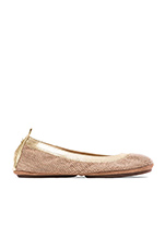 Samara Woven Canvas Flat in Natural