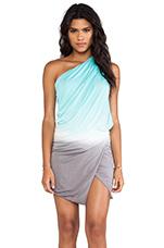 Sway Dress in Aqua & Grey Ombre