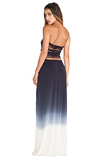 Tara Maxi Ombre Dress in Black