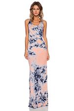 Nono Maxi Dress in Orange Nova Wash