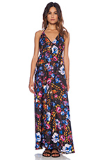 Sasha Maxi Dress in Black Floral