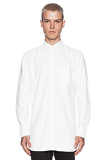 Eight Foot Shirt in White Oxford