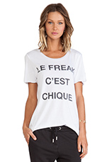 Le Freak Tee in White