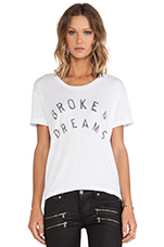 Broken Dreams Tee in White
