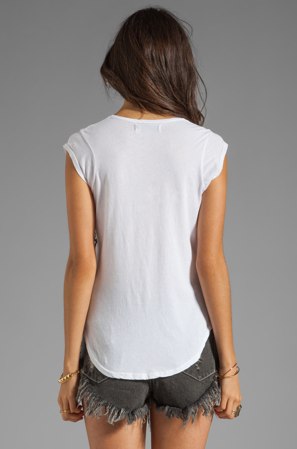 291 Restless Hearts Top in White